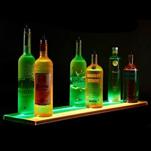 Illuminated Acrylic Wine Bottle Display Plinth, POS Display Merchandising pictures & photos
