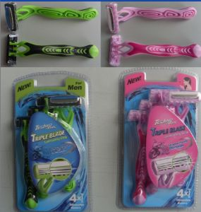 Triple Blade Disposable Shaving Razor Compete with Wilkinson pictures & photos