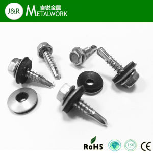 Hex Flange Head Self Drilling Screw with Washer (DIN7504K) pictures & photos