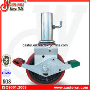 8 Inch TPU Scaffold Caster with Steel Tube pictures & photos
