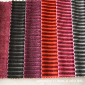 Microfiber Upholstery Polyester Stripe Sofa Fabric pictures & photos