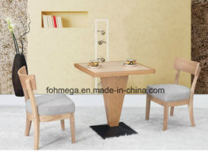 2 Seating Solid Wood Restaurant Dining Table Set pictures & photos