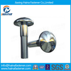 Blue or White Zinc Plated DIN607 Carriage Bolts Ribbed Neck pictures & photos
