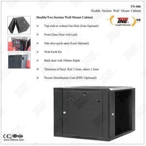 Double Section Wall Mount Cabinet and Server Cabinet pictures & photos