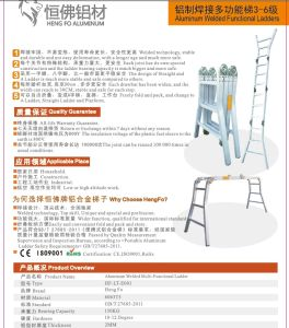 Multi-Function Aluminium Ladder Aluminium Profile pictures & photos
