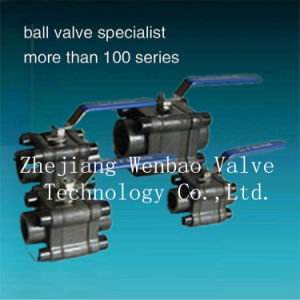 Forged 3-PC Stainless Steel Carbon Steel Ball Valve 800lb pictures & photos