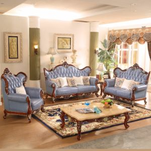 Leather Sofa with Wood Sofa Frame and Corner Table (YF-527) pictures & photos