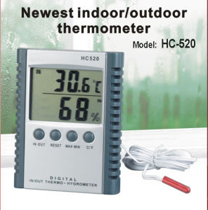 Newest Indoor / Outdoor Thermometer with indoor Humidity (HC-520) pictures & photos