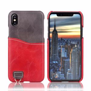 Concise Splice Color Card Slot Cell Phone Case for iPhone X pictures & photos