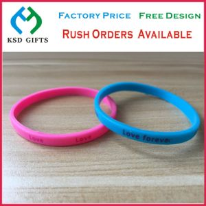 Cheap Color Filling Silicone Wrist Band for Promotional Gifts (KSD-836) pictures & photos