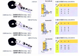 Ghdo-07 26mm Glass Door Hinge One Way/Two Way (SLIDE ON) pictures & photos