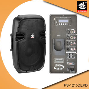 15 Inch 350W Digital AMP Bluetooth EQ iPod Plastic Active PA Speaker PS-1215DEPD pictures & photos