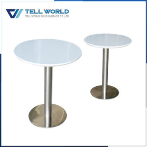 2 Person White Marble Coffee Shop Acrylic Dining Table pictures & photos