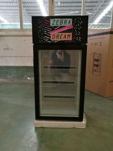 Desktop Vertical Mini Display Freezer Gelato Freezer with 3 Layer Glass Door pictures & photos