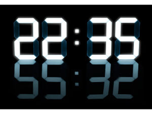 Big Size 3D LED Wall Clock with Alarm pictures & photos