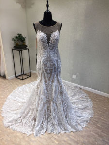 Lace Beading Evening Mermaid Bridal Wedding Gown pictures & photos