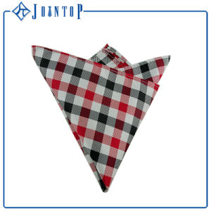 Checked Polyester Handkerchief with Logo pictures & photos