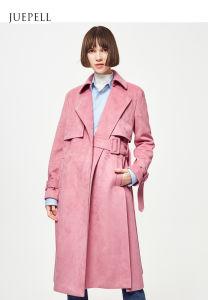 Pink Color Oversize Longline Women Coat pictures & photos