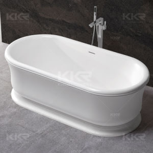 Bathroom Sanitary Ware Oval Stone Freestanding Bath pictures & photos