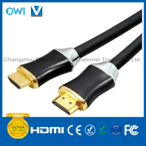 Metal Assembly Flat HDMI 19pin Plug to Plug Cable pictures & photos