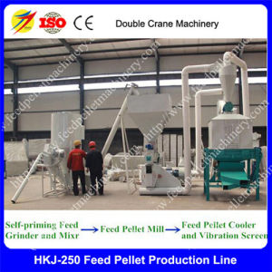 1ton Per Hour Ring Die Animal, Chicken, Poultry and Livestock Feed Pellet Production Plant Manufacturer