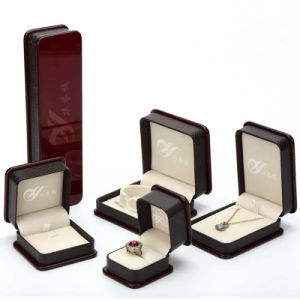 Burgundy Color Plastic Jewellry Box with Paint Cover pictures & photos