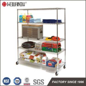 NSF Approval Adjustable Chrome Steel Garage Tools Storage Rack Shelf pictures & photos