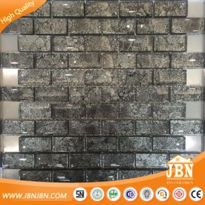 1X2 Inch, Subway Dark Coffee Color Mesh-Mounted Glass Mosaic Tile (G838004) pictures & photos