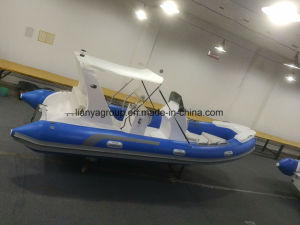 Liya 17feet Fiberglass Rib Boat Tourist Inflatable Boat for Sale pictures & photos