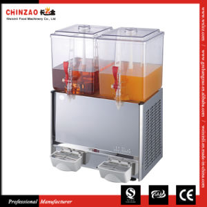 Double Tank Juice Dispenser Cold Hot Drink Machine Lsj-20L*2 pictures & photos