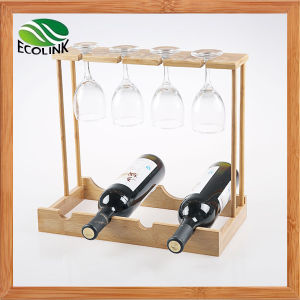 Bamboo Wine Cup Rack / Wine Bottle Holder pictures & photos