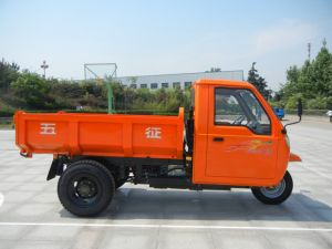Waw Diesel Motorized Chinese Cargo 3-Wheel Tricycle with Cabin pictures & photos