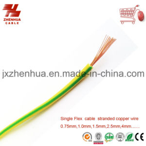 1.5mm 2.5mm 4mm 6mm Yellow and Green Earth Flexible Cable Wire Price pictures & photos