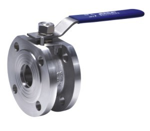Wafer Type Stainless Steel Ball Valve with Handle (316L, 304, 316)