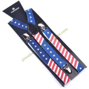 American Flag Print Unisex Elastic Suspender 2.5*100cm (BD1009-56) pictures & photos