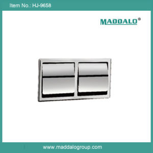 304 Stainess Steel Conceal Wall in Double Tissue Paper Box (HJ-9658)