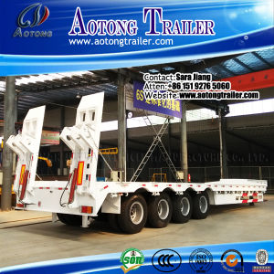 Heavy Duty 60-80tons 4 Axles Low Bed Trailer for Sale pictures & photos