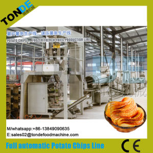 Automatic Fresh Oil Frying Sweet Potato Chips Making Machine pictures & photos