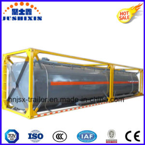 40FT Chemical Liquid Semi Trailer Tank Container with Frame pictures & photos