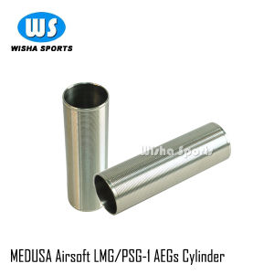 Medusa Airsoft Stainless Steel Aegs Cylinder for Lmg/Psg-1