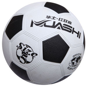 Rubber White/ Black Football