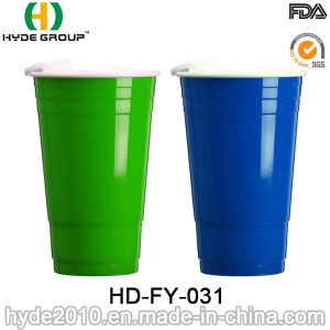 BPA Free Plastic Double Wall Solo Cup with Lid pictures & photos