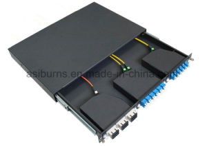 96cores 19 Inch 1u MPO Fiber Optic Patch Panel pictures & photos