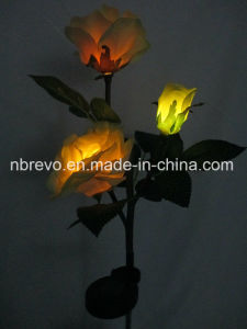 3LED Solar Garden Fabric Rose Light (RS127) pictures & photos