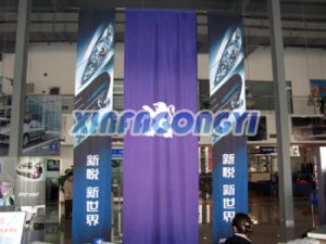 2016 High Quality Hanging Fabric Banner pictures & photos