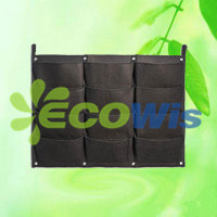 12 Pockets Reinforced Hanging Wall Mount Flower Planter Bag Grower (HT5097C) pictures & photos