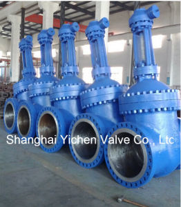 API 600 Cast Steel Gear Operated Gate Valve (Z540Y) pictures & photos