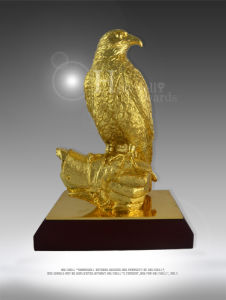 Unique Flacn Award with Gold Plating for Ceremony Use