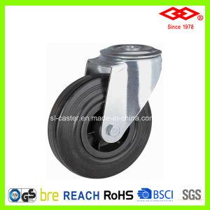 100mm Bolt Hole Black Rubber Industrial Castor Wheel (G101-31D100X30) pictures & photos