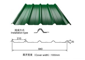 Ripple/Corrugated Zinc Steel Roofing Sheets for Building pictures & photos